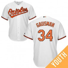 YOUTH Baltimore Orioles #34 Kevin Gausman Home White Cool Base Jersey