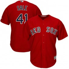 YOUTH Boston Red Sox #41 Chris Sale Replica Alternate Scarlet Cool Base Jersey