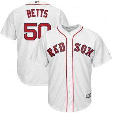 YOUTH Boston Red Sox #50 Mookie Betts Home Replica White Cool Base Jersey