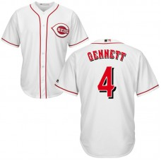 YOUTH Cincinnati Reds #4 Scooter Gennett Home White Cool Base Jersey