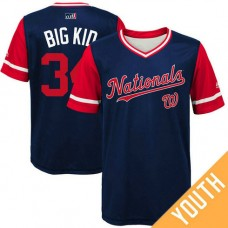 YOUTH Washington Nationals Bryce Harper #34 Big Kid Navy Nickname 2017 Little League Players Weekend Jersey