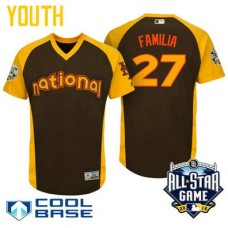 YOUTH 2016 All-Star National New York Mets Jeurys Familia #27 Brown Cool Base Jersey