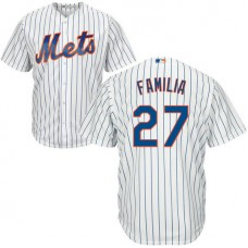 YOUTH New York Mets Jeurys Familia #27 Home White Cool Base Jersey