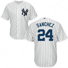 YOUTH New York Yankees #24 Gary Sanchez Home White Cool Base Jersey