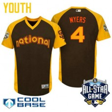 YOUTH 2016 All-Star National San Diego Padres Wil Myers #4 Brown Cool Base Jersey