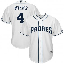 YOUTH San Diego Padres #4 Wil Myers Fashion Replica White Cool Base Jersey
