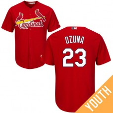 YOUTH St. Louis Cardinals #23 Marcell Ozuna Fashion Red Cool Base Jersey