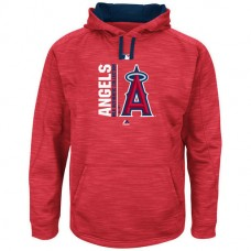 Angels Authentic Collection Team Icon Streak Fleece Red Pullover Hoodie
