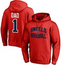 Los Angeles Angels Father's Day Red #1 Dad Player Pullover Hoodie