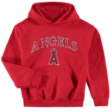 YOUTH - Angels Stitches Team Fleece Red Pullover Hoodie