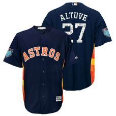Houston Astros #27 Jose Altuve Navy 2018 Spring Training Cool Base Player Jersey
