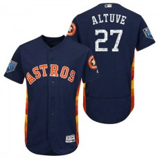 Houston Astros #27 Jose Altuve Navy 2018 Spring Training Flex Base Jersey