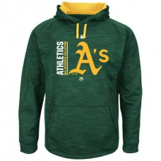 Athletics Authentic Collection Team Icon Streak Fleece Green Pullover Hoodie