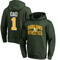 Oakland Athletics Father's Day Green #1 Dad Player Pullover Hoodie