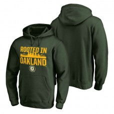 Oakland Athletics Hometown Collection Oakland Roots Pullover Green Hoodie