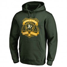 Athletics Police Badge Green Pullover Hoodie