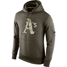 Oakland Athletics Salute To Service Olive Hoodie