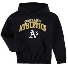 YOUTH - Athletics Stitches Team Fleece Black Pullover Hoodie