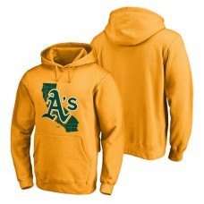 Oakland Athletics Hometown Collection The Big O Pullover Gold Hoodie