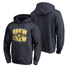 Milwaukee Brewers Hometown Collection Barley Pullover Navy Hoodie
