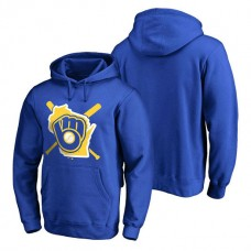Milwaukee Brewers Hometown Collection Brew Town Pullover Royal Hoodie