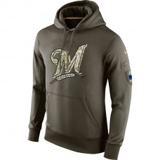 Milwaukee Brewers Salute To Service Olive Hoodie
