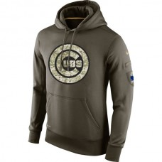 Chicago Cubs Salute To Service Olive Hoodie