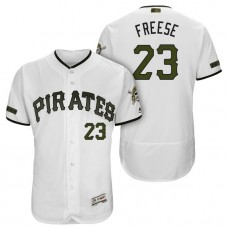 Pittsburgh Pirates #23 David Freese White 2018 Home Alternate Authentic Collection Flex Base Jersey