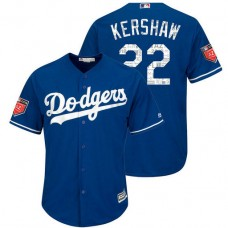 Los Angeles Dodgers #22 Clayton Kershaw Royal 2018 Spring Training Cool Base Player Jersey