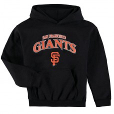 YOUTH - Giants Stitches Team Fleece Black Pullover Hoodie