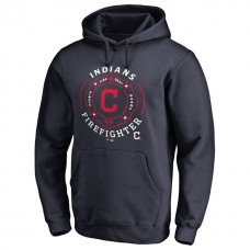 Cleveland Indians Firefighter Navy Pullover Hoodie