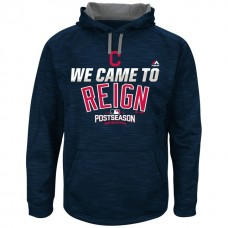 Cleveland Indians Navy 2016 Postseason Came To Reign Hoodie