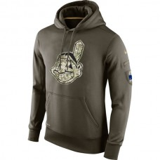 Cleveland Indians Salute To Service Olive Hoodie