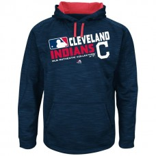 Cleveland Indians Team Choice Streak Navy Authentic Collection Hoodie