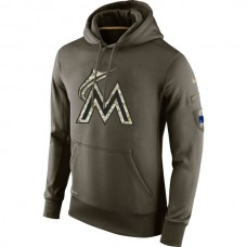 Miami Marlins Salute To Service Olive Hoodie