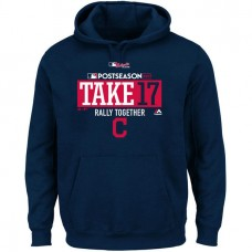 Cleveland Indians 2017 Postseason Participant Big & Tall Pullover Navy Hoodie