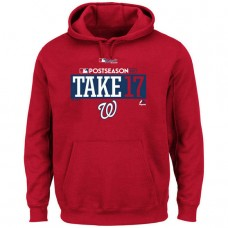 Washington Nationals Big & Tall 2017 Postseason Participant Pullover Red Hoodie
