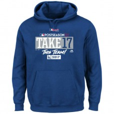 Los Angeles Dodgers 2017 Postseason Participant Big & Tall Pullover Royal Hoodie