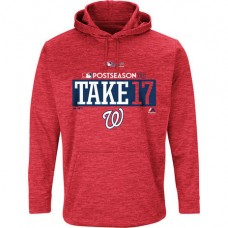 Washington Nationals 2017 Postseason Authentic Participant Ultra Streak Fleece Red Hoodie