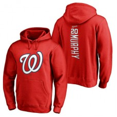 Washington Nationals #20 Daniel Murphy Backer Pullover Red Hoodie
