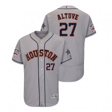 Houston Astros #27 Jose Altuve Flex Base Gray Jersey 2018 All-Star Game