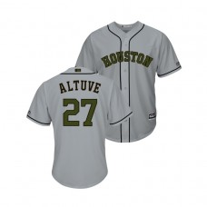 Houston Astros #27 Jose Altuve Cool Base Jersey 2018 Memorial Day Gray