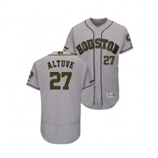 Houston Astros #27 Jose Altuve Flex Base Jersey 2018 Memorial Day Gray