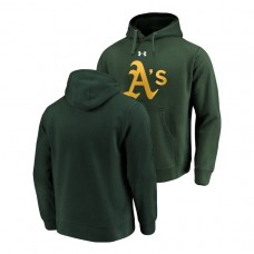 Oakland Athletics Commitment Performance Green Team Mark Hoodie