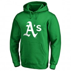 Oakland Athletics Kelly Green St. Patrick's Day White Logo Pullover Hoodie