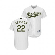 Los Angeles Dodgers White #22 Clayton Kershaw Cool Base Jersey 2018 Memorial Day
