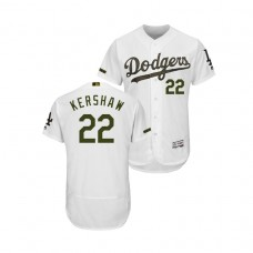 Los Angeles Dodgers White #22 Clayton Kershaw Flex Base Jersey 2018 Memorial Day