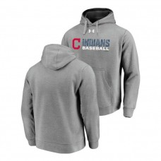Cleveland Indians Under Armour Heathered Gray Commitment Stack Hoodie