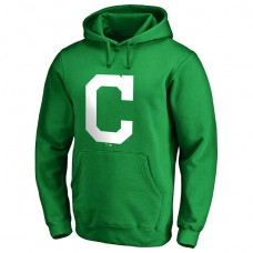 Cleveland Indians Kelly Green St. Patrick's Day White Logo Pullover Hoodie