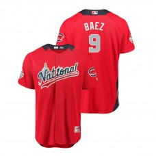 National League #9 Javier Baez Home 2018 MLB All-Star Red Run Derby Jersey